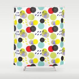 Dots party colorful bubble pattern design combined textures wrap Shower Curtain