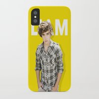 liam payne iPhone & iPod Cases featuring One Direction - Liam Payne by amy.