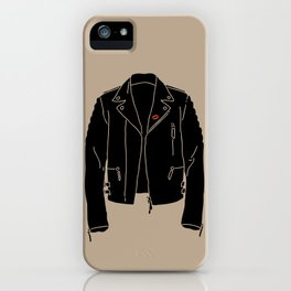 Leather Jacket - HANDSOME DEVIL'S CLUB (3/3) iPhone Case
