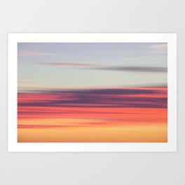 Abstract Sunrise Art Print