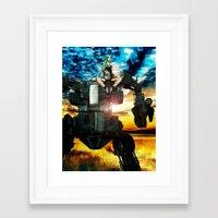 heavy metal Framed Art Prints featuring Heavy Metal by Danielle Tanimura