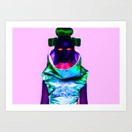 CyberGeisha X Art Print