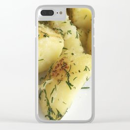 Boiled Potato With Curd Clear iPhone Case