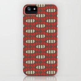 Crossed ovals iPhone Case