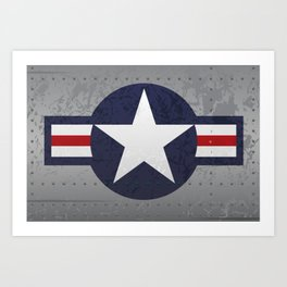 U.S. Military Aviation Star National Roundel Insignia Art Print