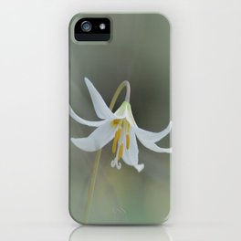 White Trout Lily in the Forest iPhone Case