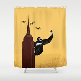 King Kong Love to Selfie Shower Curtain