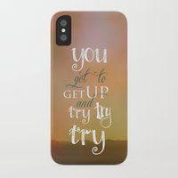 motivational iPhone & iPod Cases featuring MOTIVATIONAL QUOTE by Monika Strigel