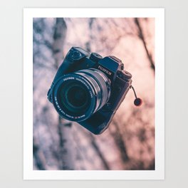 floating camera Art Print