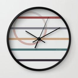 for Love    stripes & circle Wall Clock