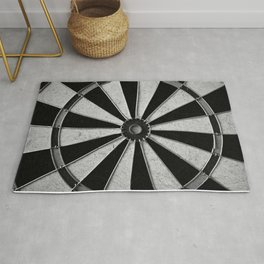 Black and White Darts, Bullseye Rug
