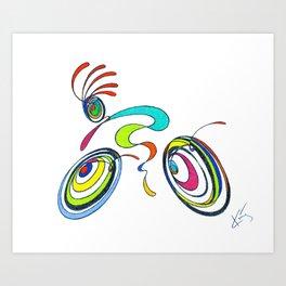 Bicycle - Kokopelli rides again Art Print