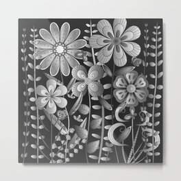 Petty Flowers Pattern 4 Metal Print