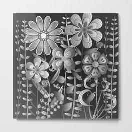 Petty Flowers Pattern 4 Metal Print