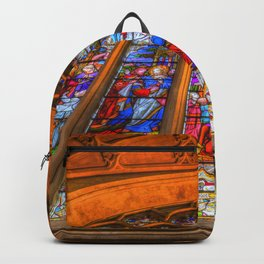 Stained Glass Abbey Window Backpack