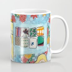 Man with cat in the kitchen Mug