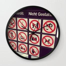Everything is vietato Wall Clock