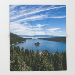 Emerald Bay, Lake Tahoe Throw Blanket