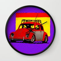 volkswagen Wall Clocks featuring VolkSWAGen by Colby Gray