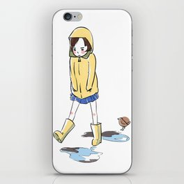 Grumpy Gail Steps Over Puddles iPhone Skin