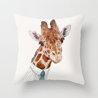 toddler Throw Pillows featuring Mr Giraffe by Animal Crew