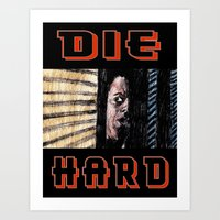 die hard Art Prints featuring Die Hard by AdrockHoward