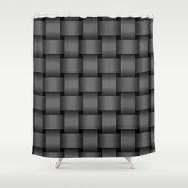 Large Dark Gray Weave Shower Curtain