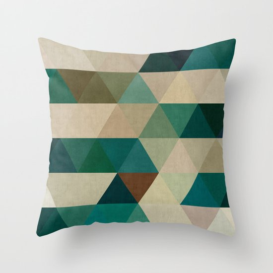 Modern Art Pillow : Modern art of triangles II Throw Pillow by Beautiful Arts Society6
