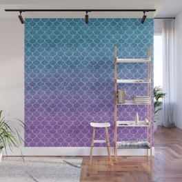 Mermaid Scales in Cotton Candy Wall Mural