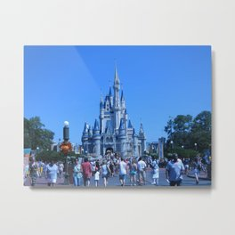 Sleeping Beauty Castle Metal Print