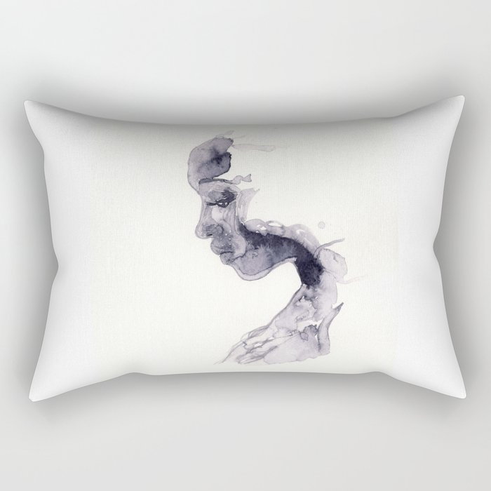 Thoughts - ink wash Rectangular Pillow