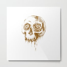Skull Coffee 1 Metal Print