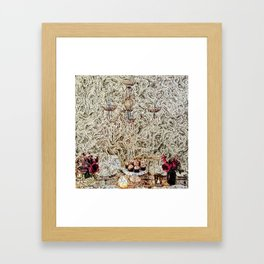 Chandelier, flowers, cupcakes  Framed Art Print