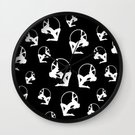 Many Aerial Lyras Wall Clock