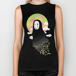 No Face and Soot Sprites Biker Tank