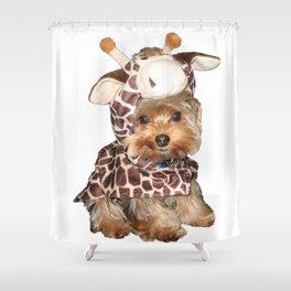 Yorkie in Giraffe Costume | Dogs Shower Curtain