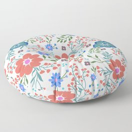 Pretty flowers and flourishes Floor Pillow