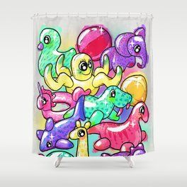 Inflatable Playground Shower Curtain
