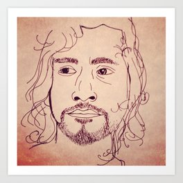 Sayid from Lost Art Print