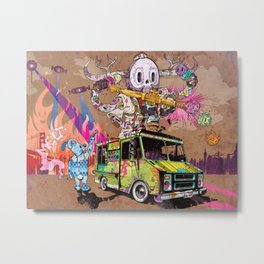 Pusher Carcophagus Metal Print
