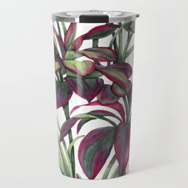 Tropical Leaves Sing Travel Mug