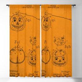 1907 Halloween Patent Jack O' Lantern Orange Blackout Curtain