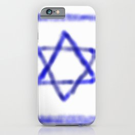 flag of israel with cloudy colors iPhone Case