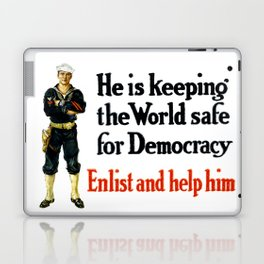 He Is Keeping The World Safe For Democracy Laptop & iPad Skin