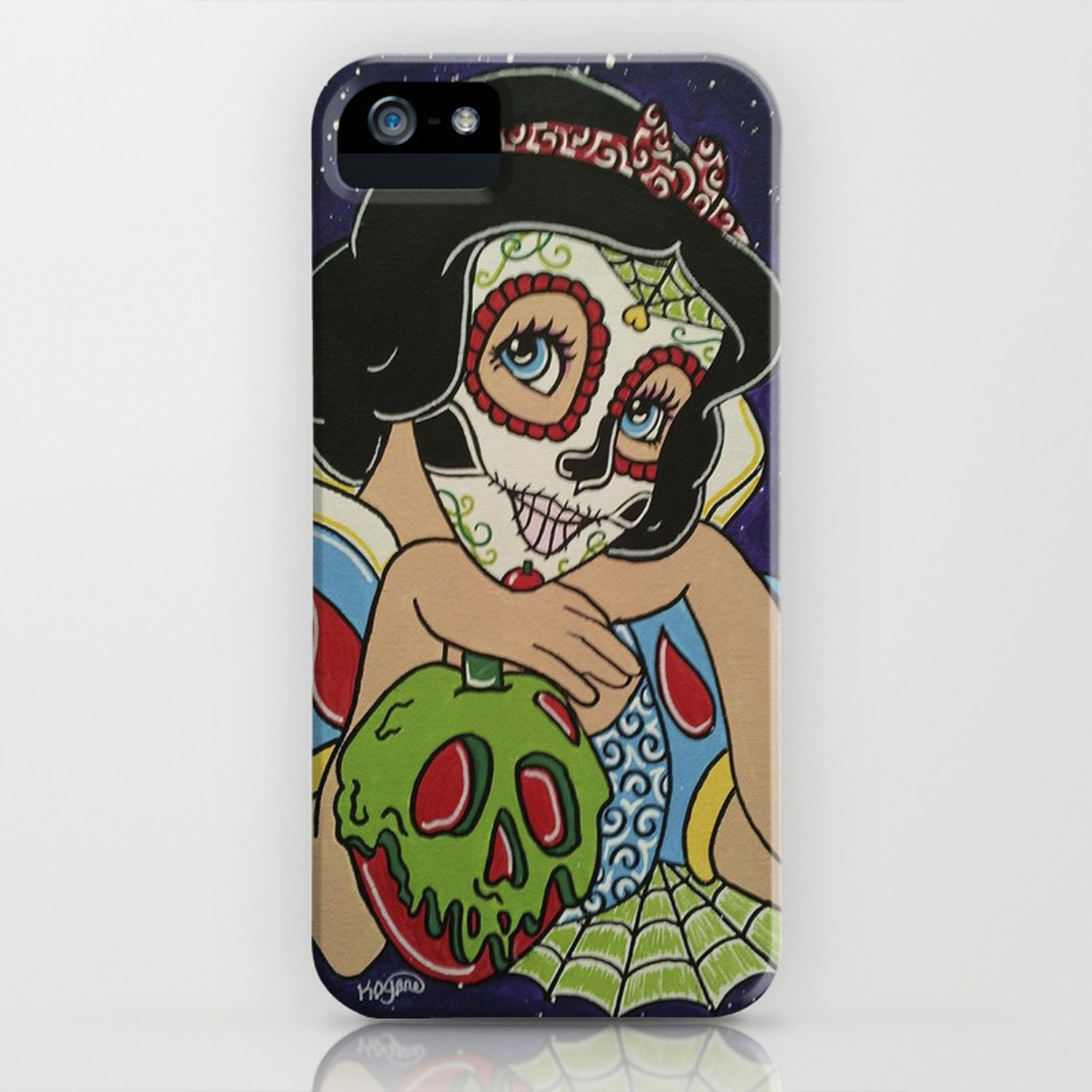 Snow White Skull iphone case