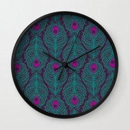 Peacock print Wall Clock
