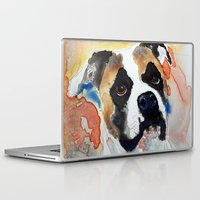 boxer Laptop & iPad Skins featuring Boxer by Bowles Fine Paintings