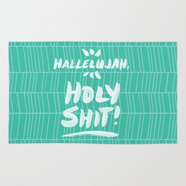 Hallelujah, Holy Shit – Turquoise Rug