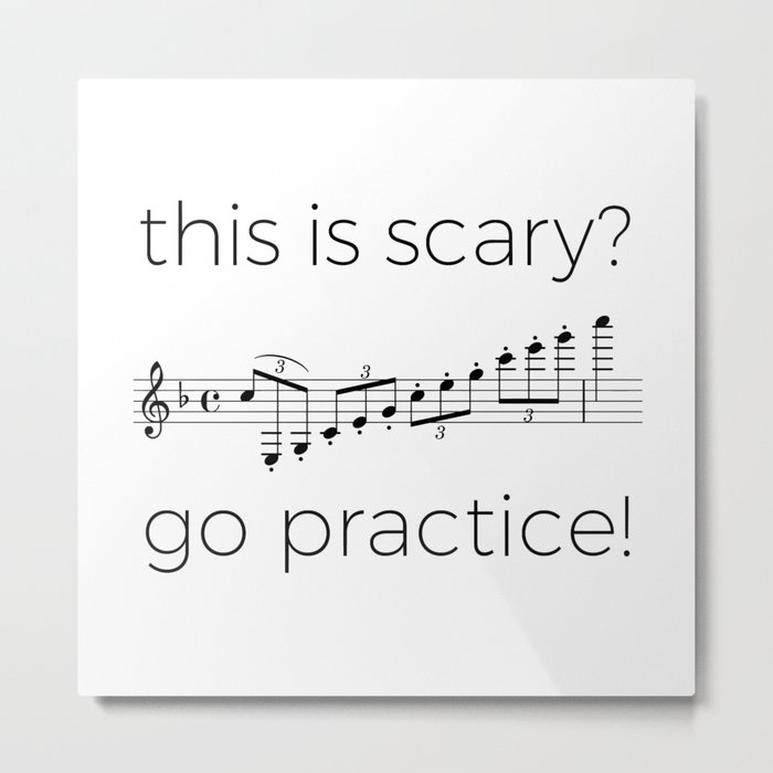 Go practice - clarinet Metal Print