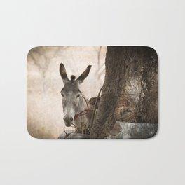The curios donkey Bath Mat